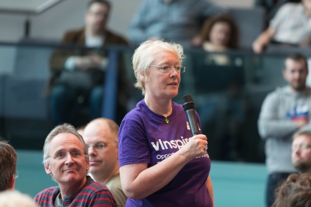 At #UKGC14 - my first outing in a vInspired t-shirt telling the Task Squad story (Photo by David Pearson)