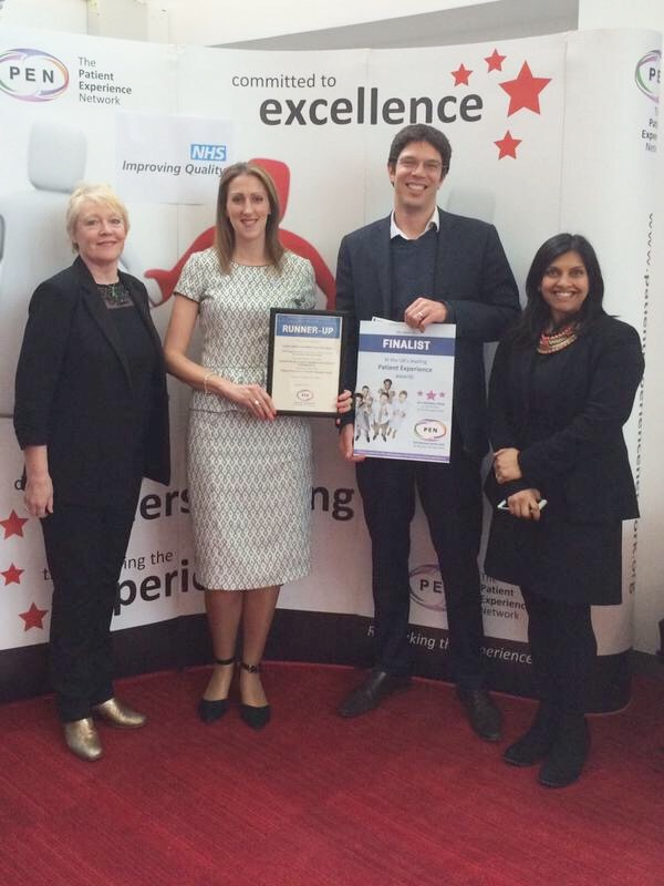 At the recent PEN Awards in Birmingham with Andrew Cockayne & Leena Shaw of Captive Health & one of our progressive customers, Jo Wood of Ipswich Hospital