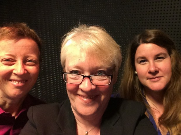 With the wonderful women who translated my rambling first from English to Norwegian and then to sign language - wow!