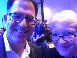 Prized selfie with Michael Dell taken at DellWorld 2015